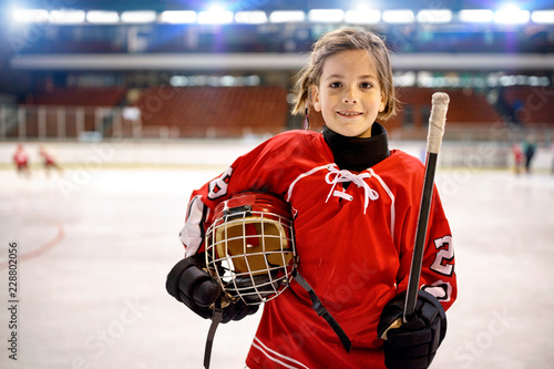 Youth girl hockey players.