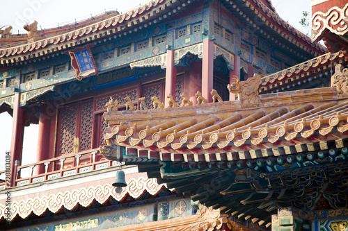 Canvas Prints Peking Yonghe Temple, also known as the Palace of Peace and Harmony Lama Temple, the Yonghe Lamasery, or popularly the Lama Temple, is a temple of Tibetan Buddhism. Beijing, China