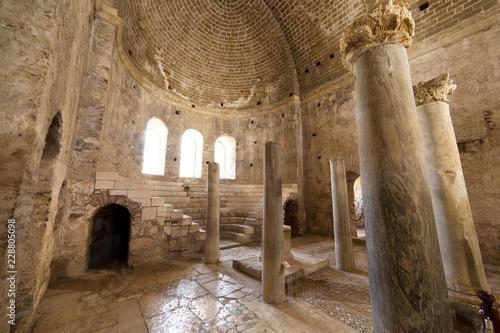 Keuken foto achterwand Historisch geb. Interior of the St. Nicholas Church (Santa claus) in Demre Turkey.