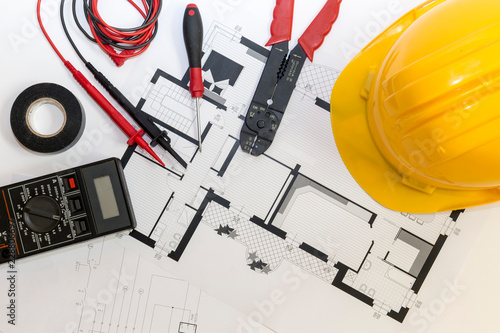 Electrician tools , instruments  and project design