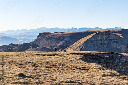 Deurstickers Asia land Bermamyt mountain Plateau in Caucasus Mountains