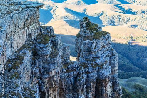 Deurstickers Asia land view of old rocks of Bermamyt Plateau at morning