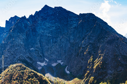 Deurstickers Asia land rock near Dombay resort village in North Caucasus