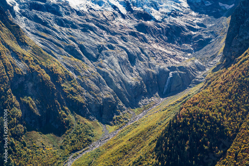 Deurstickers Asia land above view of river in mountain gorge in Dombay