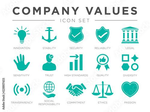 Fotografía  Business Company Values Icon Set