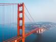 Aerial view of the San Francisco Golden Gate bridge. Beautiful close up shots.