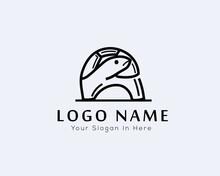 Stand Turtle Line Art Logo, Turtle Logo Design Inspiration
