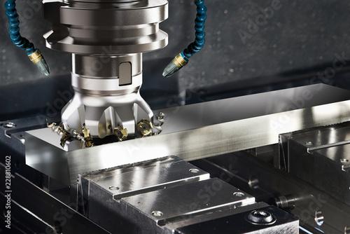 Fotografie, Obraz  Metallbearbeitung CNC Maschine beim Fräsen