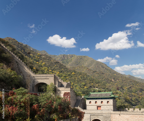 Fotobehang Chinese Muur View of one of the most scenic sections of the Great Wall of China, north of Beijing