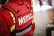 canvas print picture - Details of a paramedic uniform