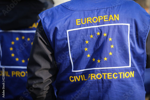 Fotografía  European civil protection and humanitarian aid operations uniform