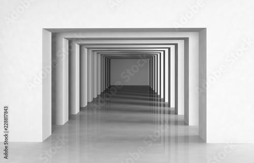 architecture moderne contemporaine 3D Fototapet