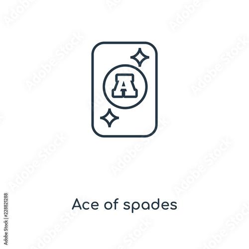 Fotografía ace of spades icon vector