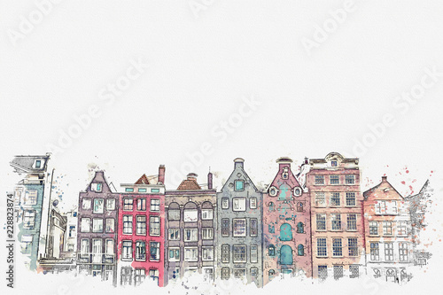 Photo illustration or watercolor sketch