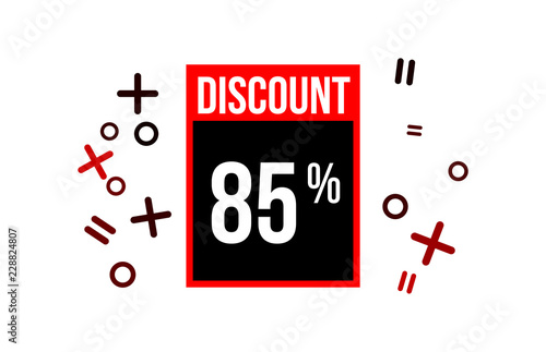 Fotografia  Red Discount 85 Percent Number