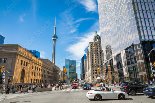 Rush hour atToronto's busiest intersections Canvas Print