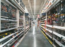 Warehouse Aisle Of Building Ma...