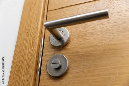 door handle closeup Canvas Print