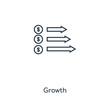 growth icon vector