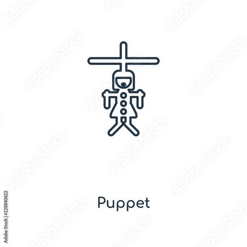 Photo  puppet icon vector