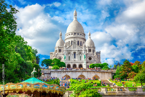 Photo sur Toile Paris Basilica Sacre Coeur