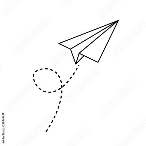 paper airplane flying icon Fotobehang