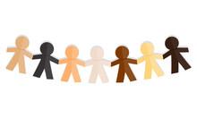 Paper Dolls Race Unity Illustration