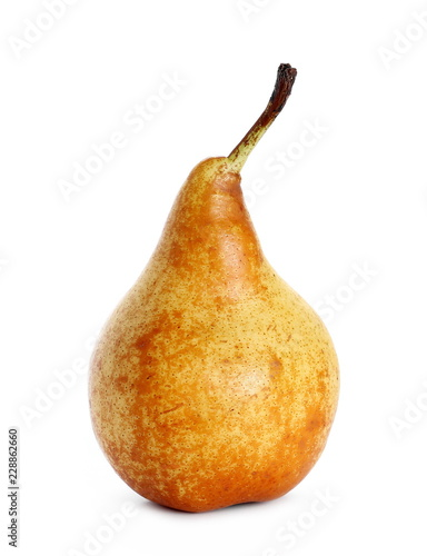Fresh ripe pear withisolated on white background