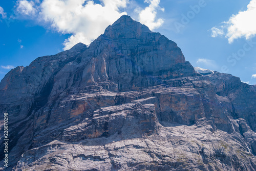 Beautiful Alpine landscape with peak of wetterhorn, Grindelwald Bernese Oberland Switzerland Europe
