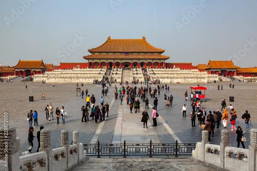 Photo Stands Beijing Forbidden City