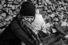 Girl With Labrador