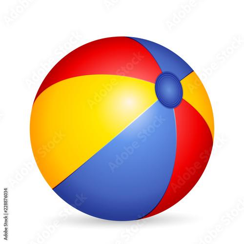 Deurstickers Bol Beach ball