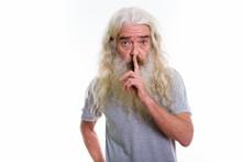 Studio Shot Of Senior Bearded ...