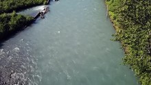 Aerial: Fork In A Fast Flowing...