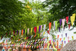 canvas print picture - Colorful bunting in outdoor summer festival