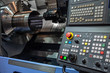 CNC lathe at work