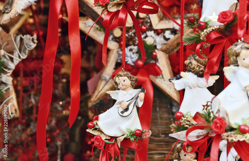 Christmas Cupid.Ceramic Christmas Cupid For Tree Decoration Or Ornament