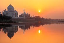 Taj Mahal Reflected In Yamuna ...