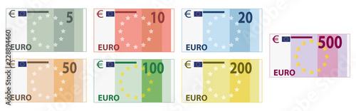 Fotomural Euro Scheine / Währung / Banknoten / Geldscheine