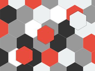 NaklejkaGeometric pattern with hexagons. Abstract background. Vector illustration
