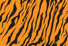 Print Stripe Animals Jungle Tiger Fur Texture Pattern Seamless Repeating Orange Yellow Black