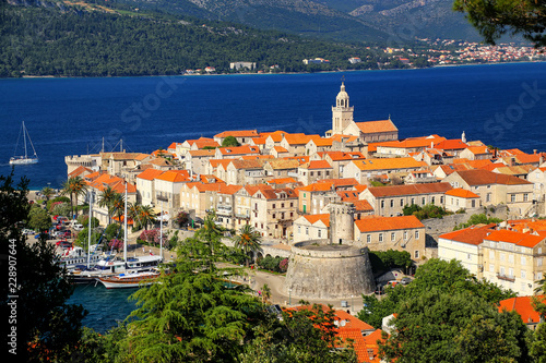 Fototapeta  View of Korcula old town, Croatia