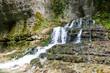 Waterfall in Martvili canyon in Georgia