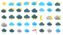 Simple Wetter Icons Set / Sammlung