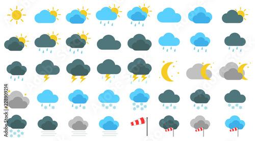 Canvas Print Simple Wetter Icons Set / Sammlung