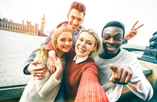 Happy Multiracial Friends Grou...