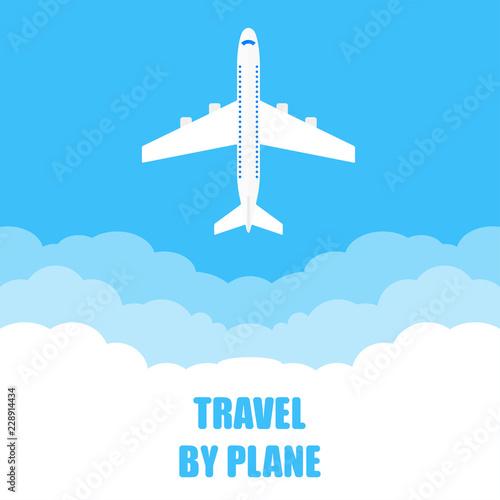 Cuadros en Lienzo  Airplane travel banner