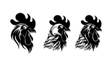 Abstract Rooster Logo Template. Vector Illustration.