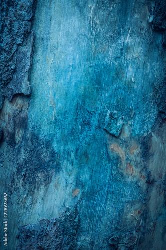 Spoed Foto op Canvas Brandhout textuur extura de corteza de árbol azul