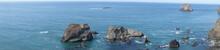 Sea Stacks At Low Tide Near Bandon